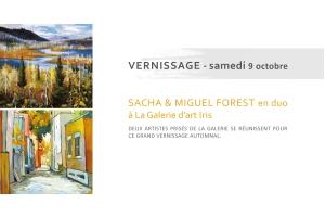 Vernissage Sacha et Miguel Forest