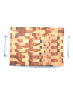 Planche à découper en bois d'érable avec poignée J'aime Charlevoix