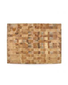 Planche à découper en bois d'érable J'aime Charlevoix