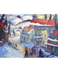 Plaisir familial d'un village québécois