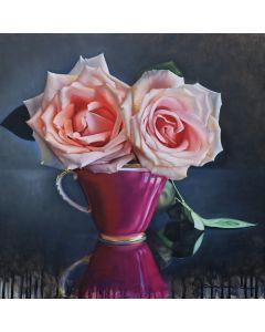 Tasse ancienne et roses Vll