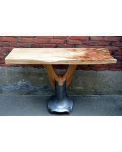 Table console ( Noyer et orme )