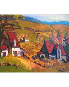 Une ferme aux champs de Charlevoix