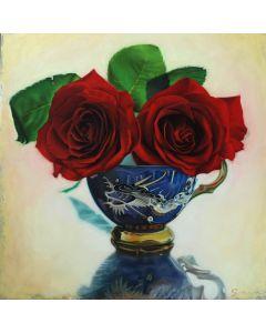 Tasse ancienne et roses 4