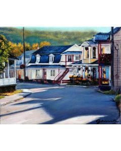 Guy-Anne Massicotte- Maisons fleuries au matin