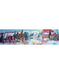 Normand Boisvert Reflet hivernal au village