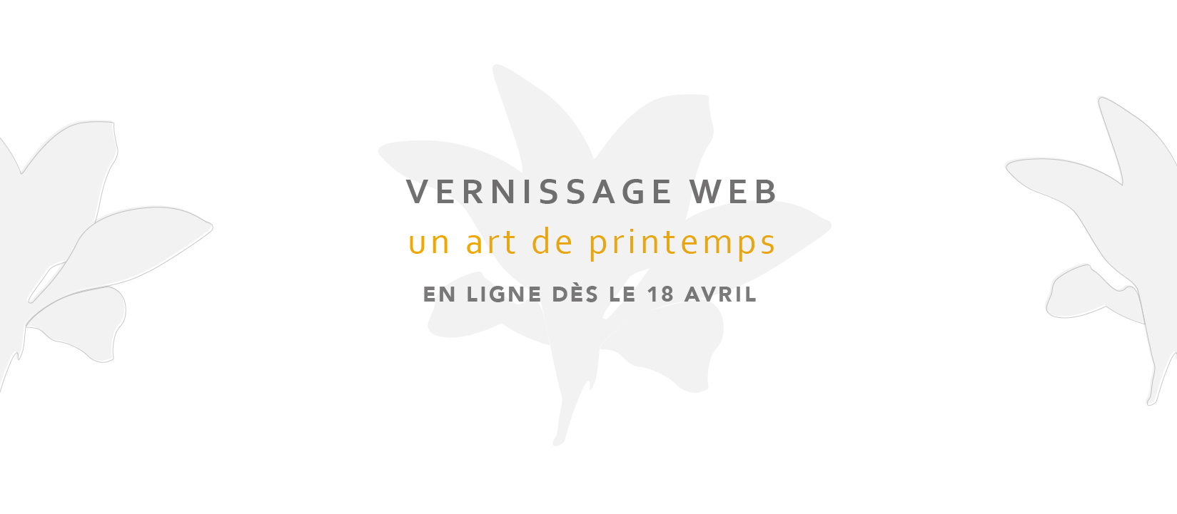 Vernissage web Un art de printemps